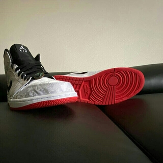 """ナイキ(NIKE)の【CLOT × Nike】Air Jordan 1 Mid """"Fearless""""(スニーカー)"""