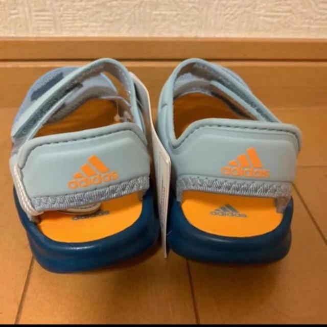 adidas(アディダス)の新品未使用 adidas 16㎝ サンダル アディダス キッズ ZVM キッズ/ベビー/マタニティのキッズ靴/シューズ(15cm~)(サンダル)の商品写真