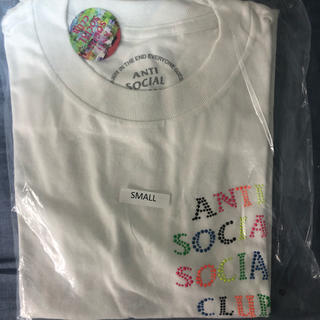 アンチ(ANTI)のASSC Stud Belt White Tee(Tシャツ/カットソー(半袖/袖なし))