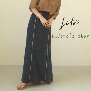 トゥデイフル(TODAYFUL)のTODAYFUL■新品未使用■ Geometric Piping Skirt(ロングスカート)