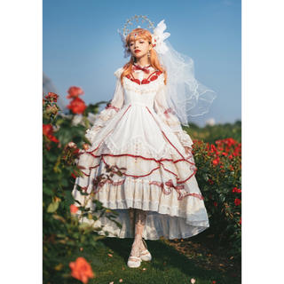 ベイビーザスターズシャインブライト(BABY,THE STARS SHINE BRIGHT)の純白のエレイン ドレス3点セット ロリィタ  しゅくれどーる お茶会(ロングワンピース/マキシワンピース)