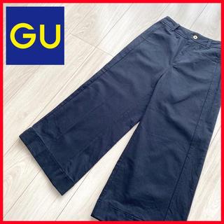 ジーユー(GU)の♥美品♥ GU ワイド クロップド パンツ ブラック S(バギーパンツ)