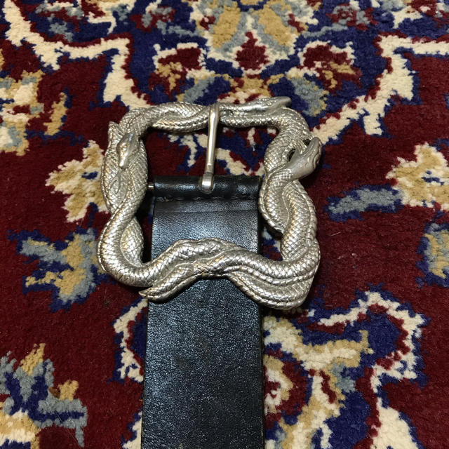JOHN LAWRENCE SULLIVAN(ジョンローレンスサリバン)のVINTAGE snake over-buckle belt メンズのファッション小物(ベルト)の商品写真