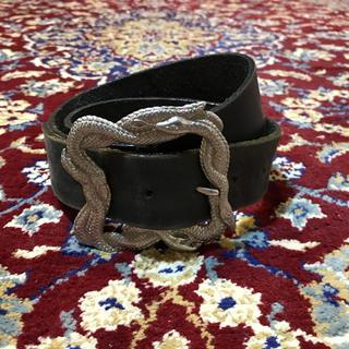 JOHN LAWRENCE SULLIVAN - VINTAGE snake over-buckle belt