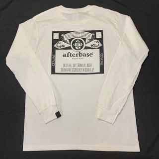 アフターベース(AFTERBASE)のwasted youth tee ロンT 長袖Tシャツ ホワイト M(Tシャツ/カットソー(七分/長袖))