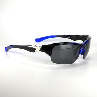 偏光 レンズ サングラス X-Loop 578 ブルー 釣りに!ゴルフに!(その他)