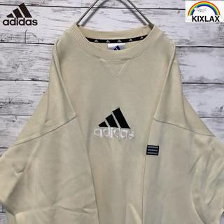 adidas - [一点物] [adidas] 90's  刺繍ロゴ アイボリー ビッグシルエット