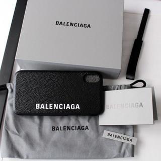 バレンシアガ(Balenciaga)の新品 2020SS BALENCIAGA レザー iPhoneX ロゴケース(iPhoneケース)