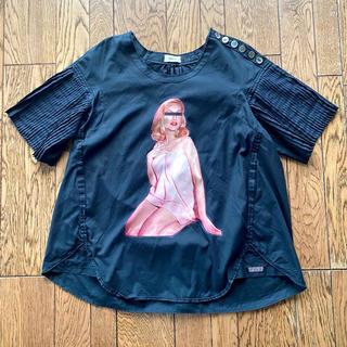 アンダーカバー(UNDERCOVER)のアンダーカバー黒Aラインシャツトップスプルオーバー(Tシャツ(半袖/袖なし))