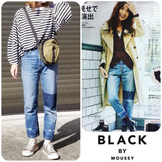 BLACK BY MOUSSY☺︎HUILA patchwork Denim