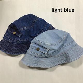 新品 ハット デニム 帽子 デニムハット バケットハット キャップ 韓国子供服(帽子)