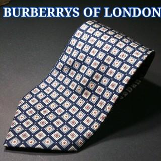 バーバリー(BURBERRY)の【極美品】BURBERRYS OF LONDON 総柄 ネクタイ ネイビー(ネクタイ)