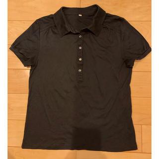 ムジルシリョウヒン(MUJI (無印良品))のポロシャツ レディース 無印良品 黒 Lサイズ(ポロシャツ)
