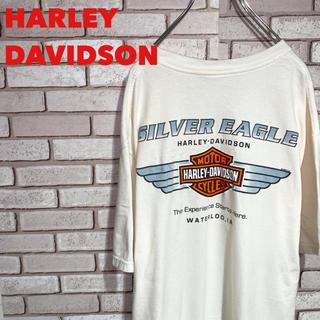 Harley Davidson - ハーレーダビッドソン Tシャツ カットソー ビッグロゴ 両面 メキシコ 古着