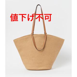 エイチアンドエム(H&M)の⚠️値下げ不可⚠️編み込みペーパーストロー素材トートバッグ(トートバッグ)