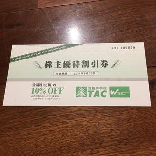 TAC 株主優待券 割引券(その他)