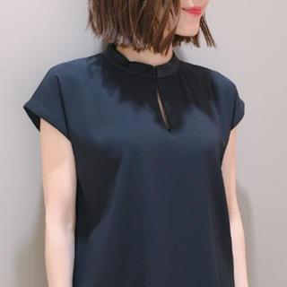 デミルクスビームス(Demi-Luxe BEAMS)の新品未使用タグ付き☆デミルクスビームス サテンステッチ 半袖 ブラウス(シャツ/ブラウス(半袖/袖なし))