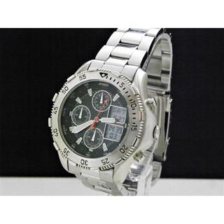 アヴィレックス(AVIREX)のAVIREX デジアナ腕時計 未使用品 クロノグラフ ワールドタイム(腕時計(アナログ))