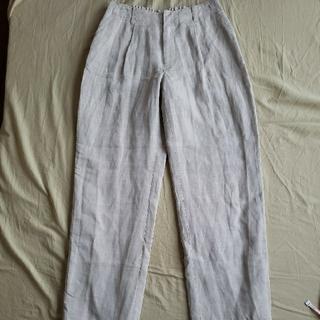 LAUTREAMONT - LAUTREAMONT レディース オフホワイト パンツ 夏用 麻×レーヨン