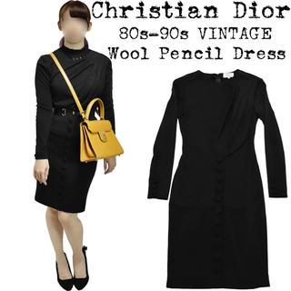 クリスチャンディオール(Christian Dior)の美品★Christian Dior★クリスチャンディオール★ワンピース★ブラック(ひざ丈ワンピース)