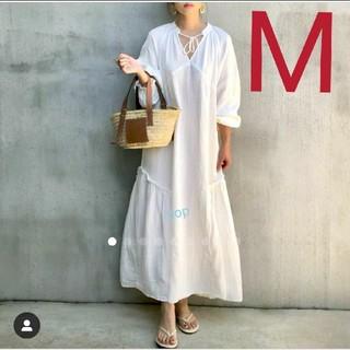 エイチアンドエム(H&M)の新品タグ付き H&M 大人気商品 コットンカフタンワンピース M インスタ(ロングワンピース/マキシワンピース)