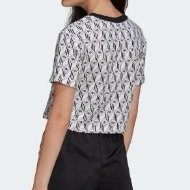 adidas(アディダス)の【定価 ¥4,389→】アディダス クロップド Tシャツ レディース  レディースのトップス(Tシャツ(半袖/袖なし))の商品写真