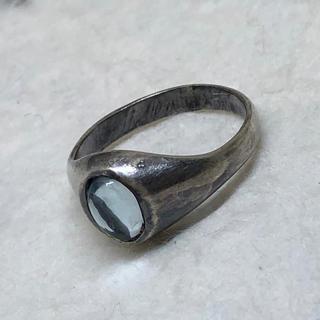 シルバー925リングsilver925指輪 青水晶ブルークォーツ パワーストーン(リング(指輪))