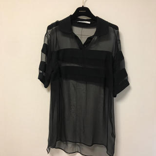 ジバンシィ(GIVENCHY)の定価約15万円 ジバンシー シースルーポロシャツ(ポロシャツ)