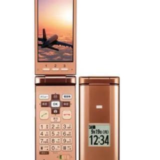 キョウセラ(京セラ)のau 簡単ケータイ KYF32 ピンク 美品 セット(携帯電話本体)