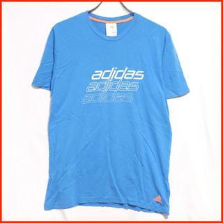 アディダス(adidas)の【ユーロ古着】adidas アディダス ブルー ロゴTシャツ(Tシャツ/カットソー(半袖/袖なし))