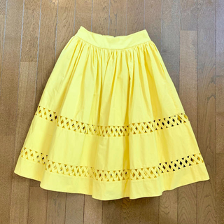 アリスアンドオリビア(Alice+Olivia)のアリスオリビア レモンイエロー スカート 0サイズ(ひざ丈スカート)