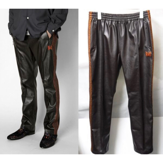 Needles - Needles TRACK PANT SYNTHETIC LEATHER  S