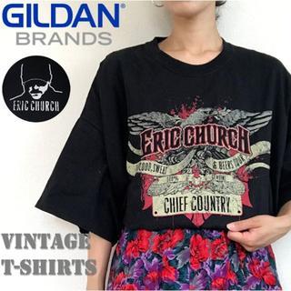 ギルタン(GILDAN)のギルダン GILDAN Tシャツ ERIC CHURCH アーティスト ツアー(Tシャツ/カットソー(半袖/袖なし))