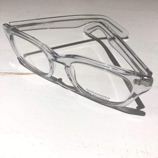 Ayame(アヤメ)のシュロン サイドワインダー クリアフレーム ビックシルエット メンズのファッション小物(サングラス/メガネ)の商品写真