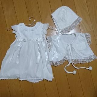 キムラタン(キムラタン)のベビードレス&ボレロ帽子セット(セレモニードレス/スーツ)