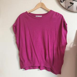 イッカ(ikka)のikka  ぶとう色Tシャツ(Tシャツ(半袖/袖なし))