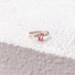 AHKAH - pink serpente ring*ピンクセルペンティリング