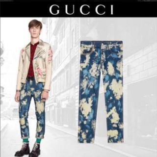 グッチ(Gucci)のGUCCI ブリーチ デニム 17ss(デニム/ジーンズ)