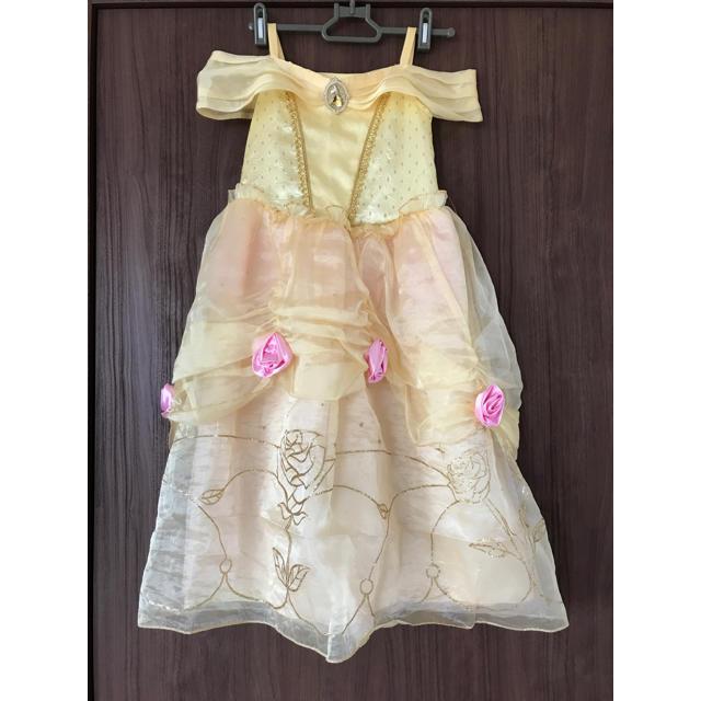 Disney(ディズニー)のプリンセスドレス ベル (アメリカでの購入品) 美品 キッズ/ベビー/マタニティのキッズ服女の子用(90cm~)(ドレス/フォーマル)の商品写真