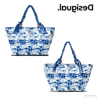 DESIGUAL - 新品✨定価19900円デシグアル ブルー系 今季⭐️新作⭐️トートバッグ