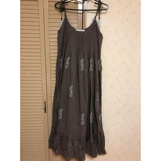 DEUXIEME CLASSE - MARIHA 肩紐刺繍マキシワンピース