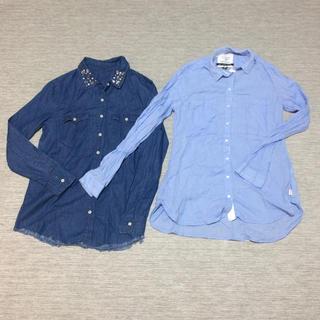 ベルシュカ(Bershka)の美品 ベルシュカ 長袖シャツ 2枚セット(シャツ/ブラウス(長袖/七分))