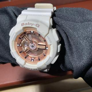 ベビージー(Baby-G)のbaby-g  ホワイトxピンク(腕時計)