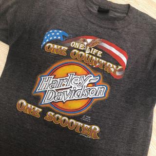 Harley Davidson - USA製ビンテージハーレーT黒S イーグルチャレンジャーマッコイズオルテガ長瀬