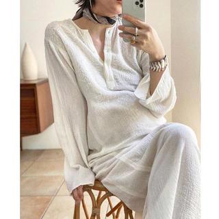 TODAYFUL - Todayful Embroidery Gauze Dress WHT 36