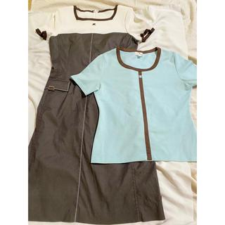 クレージュ(Courreges)の【二枚セット】クレージュ ワンピース 半袖トップス(Tシャツ(半袖/袖なし))