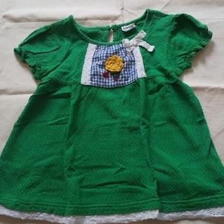 プチジャム(Petit jam)のグリーン プチジャム カットソー Tシャツ 110 女の子 緑(Tシャツ/カットソー)
