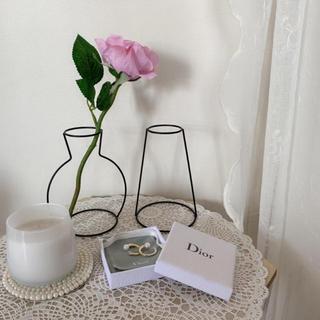 ザラホーム(ZARA HOME)の新品未使用 フラワーベース ワイヤーインテリア ワイヤー花瓶 2個セット 韓国(花瓶)