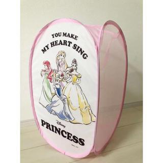 ディズニー(Disney)のディズニープリンセス ランドリーボックス 洗濯カゴ 折りたたみ(ケース/ボックス)