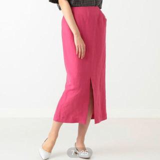 デミルクスビームス(Demi-Luxe BEAMS)のDemi-Luxe BEAMS リネンレーヨン タイトスカート(ロングスカート)